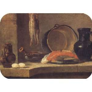 Still Life with Herrings Chardin Art MOUSE PAD Office