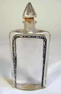 Art Deco Lalique Crystal Glass Commercial Perfume Bottle