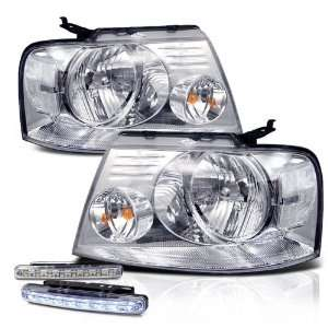 Eautolight 2004 2008 Ford F150 Chrome Head Lights Lamps + LED Bumper