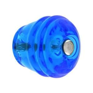 Round Peacock Blue Glass Cabinet Knob.
