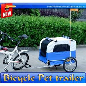 Frugah Large Portable Pet Dog Bicycle Bike Trailer Folding