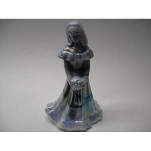 Fenton Purple & White Slag Carnival Glass Bridal Doll