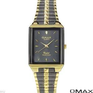 Men Watches Two Tone Gold N Black Stainless Steel Band Black Dial