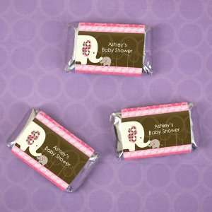 Elephant   20 Mini Candy Bar Wrapper Sticker Labels Baby Shower Favors