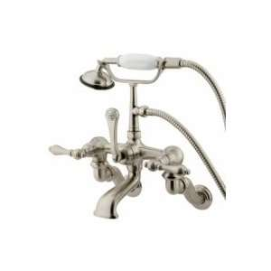 Elements of Design Wall Mount Clawfoot Tub Filler With Hand Shower