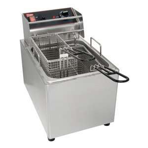 Cecilware EL25 Stainless Steel Electric Countertop Fryer with 25 lb