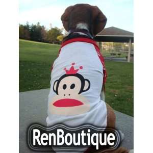 Pet Dog Costume Clothing Size XL, White Color  for small dogs, Please