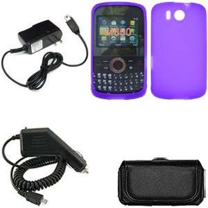 iFase Brand Huawei M650 Combo Solid Purple Silicon Skin Case Faceplate