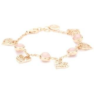 Ladies 14K Yellow Gold Cable Links Heart Tag Bracelet Jewelry