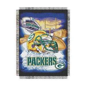 Green Bay Packers Woven Tapestry NFL Throw (Home Field
