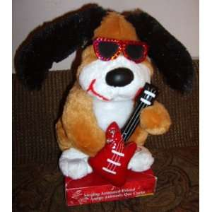 10 Inch Singing Animated Friend   Light Up Guitar Dog Toys & Games