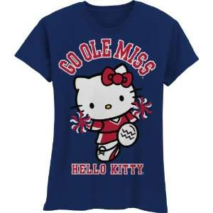 Rebels Hello Kitty Pom Pom Girls Crew Tee Shirt