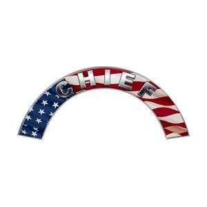 Chief American Flag Firefighter Fire Helmet Arcs / Rocker