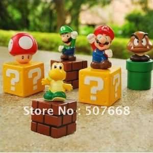 pvc 5 super mario bros action figures new 100set/lot Toys & Games
