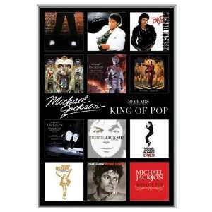 Michael Jackson Album Covers Framed Poster   Quality Silver Metal