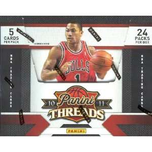 2010 11 (2011) Panini Threads NBA Basketball Sports Trading Cards Box