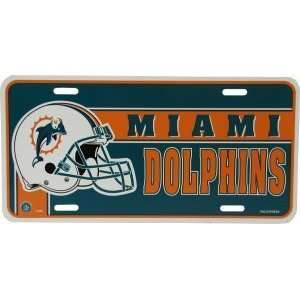 NFL MIAMI DOLPHINS TEAM CAR License Plate Sports