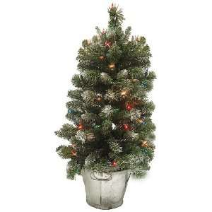 Pre Lit Potted Artificial Christmas Tree   Multi Lights Home
