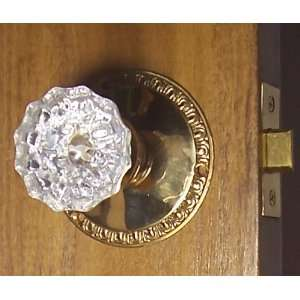 Egg & Dart Exceptional Passage Knob set with Solid Brass Rosettes and