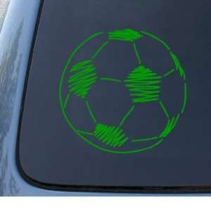 SOCCER BALL   Car, Truck, Notebook, Vinyl Decal Sticker #1301  Vinyl