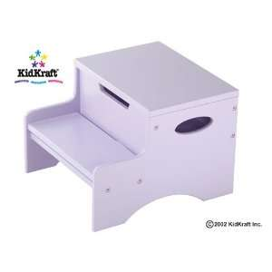 Step Stool With Storage in Lavender