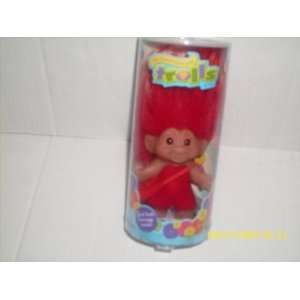 Good Luck Troll with Message Dark Red Toys & Games