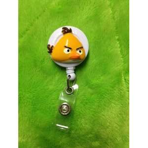 Yellow Bird (3D) White Badge Reel ID Badge Holder Office
