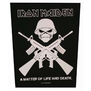 XLG Iron Maiden Crossed Guns A Matter Of Life Death Woven Back Jacket