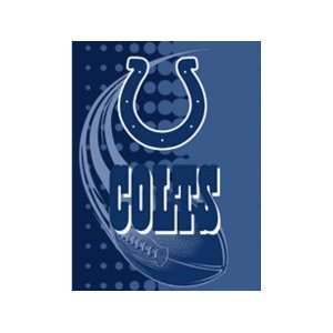 Indianapolis Colts XL Royal Plush Flash Series Throw Blanket