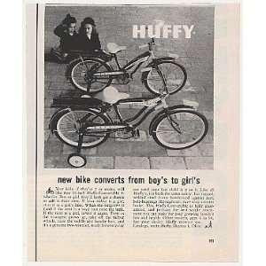 1959 Huffy Convertible 4 Wheel Boy Girl Bike Bicycle Print Ad