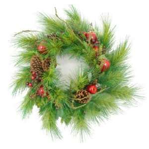 Apple, Berry & Pine Cone Artificial Christmas Wreath