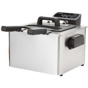 Aroma ADF 232 Smart Fry XL 4 Quart Digital Dual Basket Deep Fryer with