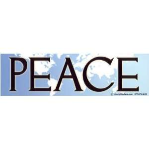 PEACE (with world map background) Bumper Sticker